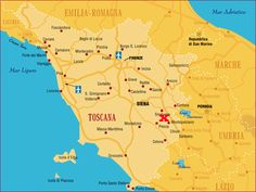 Wine Map of Tuscany