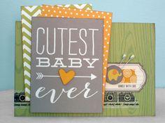 Cutest Baby Ever - Scrapbook.com - Use 3x4 cards on handmade cards too!