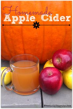 Apple Cider Recipe - Freetail Therapy from apple juice. Easy Drink Recipes, Apple Recipes, Fall Recipes, Smoothie Recipes, Holiday Recipes, Snack Recipes, Smoothies, Snacks, Non Alcoholic Drinks