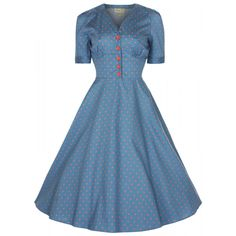 Lindy Bop 'Ionia' Vintage Rockabilly Pinup Flared Tea/Shirt Dress [UK & Ireland] Buy Now: (On sale from Vintage Inspired Fashion, Vintage Inspired Dresses, Vintage Style Dresses, 1950s Fashion, Vintage Fashion, Dress Vintage, Vintage Party, Pin Up Dresses, 50s Dresses