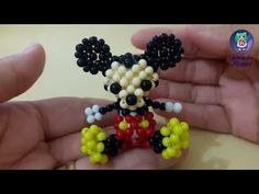 Passo a Passo do Mickey em Miçangas - YouTube Diy Jewelry Videos, Jewelry Crafts, Tatting Jewelry, Beaded Jewelry, Brick Stitch Tutorial, Diy And Crafts, Arts And Crafts, Motifs Perler, Beading Patterns Free