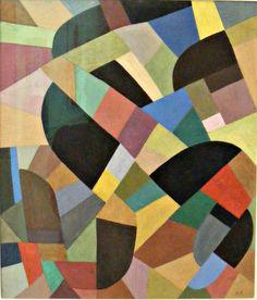 Otto Freundlich, Abstracte compositie, 1938-1939 ~art, artist, painting, painter, color, composition