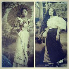 @vinta_to: City girl vs Country girl #filipiniana #1930s Ladies Wear, Women Wear, Baro't Saya, Filipiniana, City Girl, Filipino, Country Girls, Old Photos, 1930s