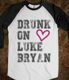 DRUNK ON LUKE BRYAN - BASEBALL