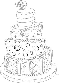 Beyond the Fringe Crafts: Free Whimsical Cake Digi Stamp!