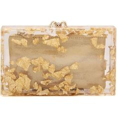 Charlotte Olympia Pandora Box Clutch (29790795 BYR) ❤ liked on Polyvore featuring bags, handbags, clutches, gold, beige handbags, gold handbags, hard clutch, charlotte olympia and beige clutches