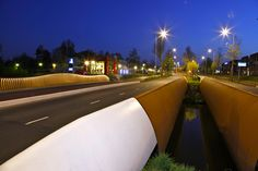 Sfeer verlichting op brug. Designed by Bureau Stoep.