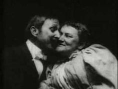 "This ""shocking"" footage from 1896 shows the first kiss ever captured on film.   The Kiss (also known as The May Irwin Kiss, The Rice-Irwin Kiss and The Widow Jones) is an 1896 actuality, and was one of the…"
