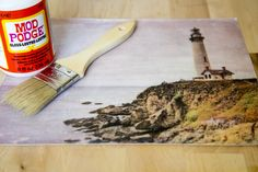 How to Use Mod Podge to Transfer Images.  This resembles a painting I did....