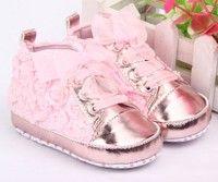 Wish   Baby Kid Girl Toddler Non-slip Soft Sole Crib Sneaker Shoes Prewalker Boots