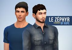 Un Sims au bout du fil., Le Zéphyr haircut for The Sims 4 After seeing my...