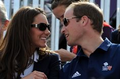 William and Catherine at the London 2012 equestrian event