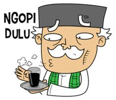 Daily life of Engkong! Enjoy and have fun with Betawi dialect in your chat room! Cartoon Jokes, Cartoon Art, Learn Korean, Joko, Chat App, Line Store, Funny Stickers, Islamic Pictures, Emoticon