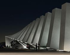 Ninotsminda Border Checkpoint by Luka Machablishvili / @Dezeen magazine | #caucaso