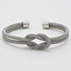Mesh Infinity Bracelet in Silver