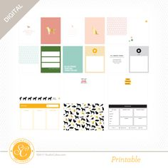 The Birds and the Bees Pet Printable Journal Cards at Studio Calico Xmas Dinner, Birds And The Bees, Lol Dolls, Studio Calico, Diet Plans To Lose Weight, Journal Cards, Project Life, Card Making, Poster