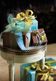 Nicholas Kniel, co-author of Ribbon: The Art of Adornment, created the beautiful package designs. Kniel is also the owner of Nicholas Kniel Fine Ribbons & Embellishments in Sandy Springs, (404) 252-8855.