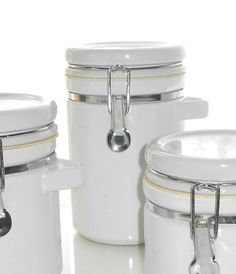 Items similar to White Ceramic Jar / Canister / Locking Lid / Wire Bail on Etsy Glass Canisters, Ceramic Jars, Jar Lids, Sale Items, White Ceramics, Wire, Etsy, Products, Tableware