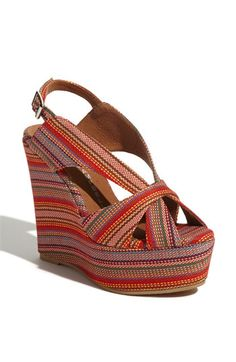 Love the vintage feel of these Jeffrey Campbell wedges $110