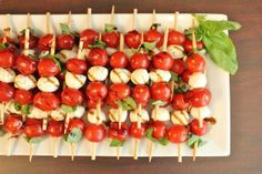 Bridal Shower Food Idea - Caprese Salad on a Stick | niceweddingz.comniceweddingz.com