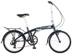 """Schwinn Adapt 1 7 Speed Folding Bike, Gloss Navy, 16\""""/One Size/20\"""" * Continue to the product at the image link."""