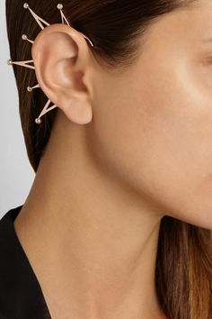 Arme De L'Amour|Rose gold-plated ear cuff