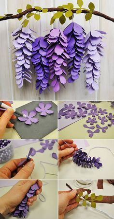 Paper decorations with shapes for tropical parties. - Paper Paper decorations with shapes for tropical parties. – Paper Flower Backdrop Wedding Paper decorations with shapes for tropical parties. Paper Flowers Craft, Felt Flowers, Flower Crafts, Diy Flowers, Flower Paper, Hanging Paper Flowers, Flower Svg, How To Make Flowers Out Of Paper, Origami Flower