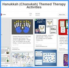 Pinterest Pin Board of the Week: Hanukkah! - pinned by @PediaStaff – Please Visit  ht.ly/63sNt for all our pediatric therapy pins