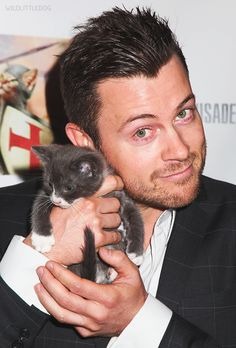 Dan Feuerriegel and a kitten!!!!