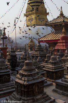Swayambhunath Temple in the Kathmandu Valley, Nepal Copyright: Phil Benusa