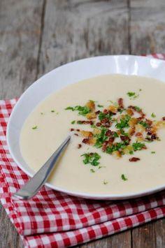 Rezept für Selleriesuppe mit Birne AUSPROBIERT - super für übriggebliebene Knollensellerie, lecker!!!