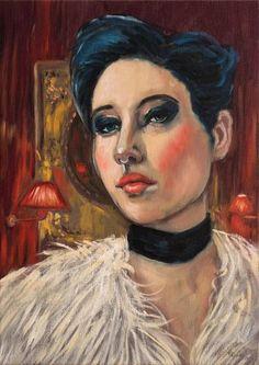 """Saatchi Art Artist Corinne Korda; Painting, """"Queen Of The Night"""" #art"""