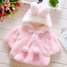 2017 baby girl jackets girls outerwear coats coats winter kids jacket Velour fabric garment lovely Bow coat baby girl clothes //Price: $18.48 //     #baby