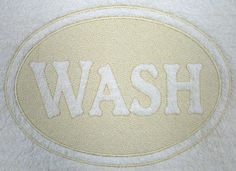 Wash (Embossed) design (D6000) from www.Emblibrary.com