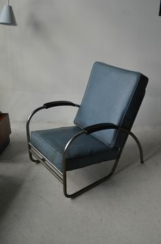 Industrial Machine age Mid century Modern chrome chair by Royal Metal Co vintage
