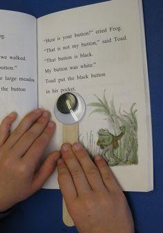 reading tracker.. .the amazing power of googly eyes