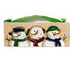 Christmas Home Decor~ Winter Snowman Work of Art~ Primitive Christmas ~ Xmas Decor~ Family Snowman Wall Hanging~ December 2014 Trending