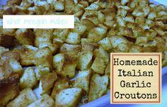Homemade Italian Garlic Croutons — MeeganMakes