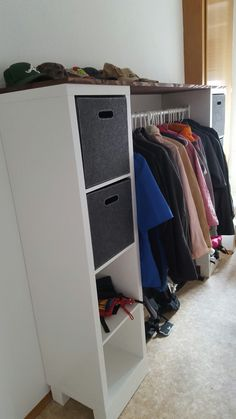 Ikea kallax coat rack shelf