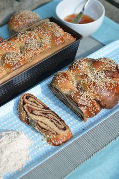 Spelt Flour Challah Dough Rolls & Chocolate Babka by Food Wanderings