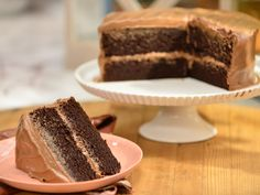 Decadent Chocolate Cake recipe from Marcela Valladolid via Food Network