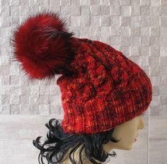 Pom Pom Beanie Knitted Hat for Women Winter Pom by AlbadoFashion