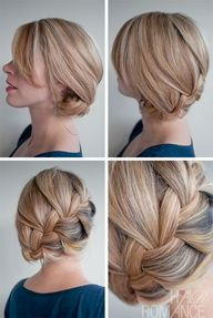 "Hair Romance - 30 braids 30 days - 15 - French braid side bun"" data-componentType=""MODAL_PIN"