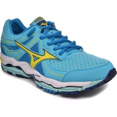 Women's Mizuno Wave Enigma 3 shown in Blue Atoll/Bolt: I have the Wave Inspire 9's and love them. Great brand. #CharlesRiverRunning