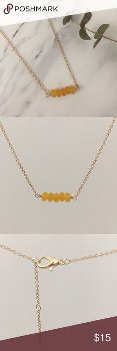 Simple Gold Gemstone Necklace Handmade simple gold chain and gemstone necklace.   👌 Bundle to save!  (Sorry, I don't trade)  N129 Handmade Jewelry Necklaces