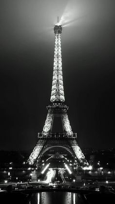Eiffel Tower Night View - Tap to see more of the most romantic Paris city wallpaper - @mobile9