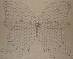 chicken wire butterfly to hang on your wall