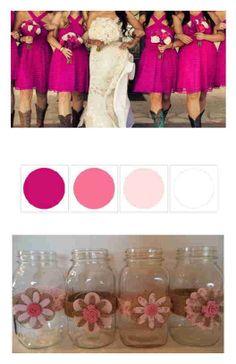 10 Very Pink and Burlap Handmade  Mason Jars Country Rustic Wedding Decorations