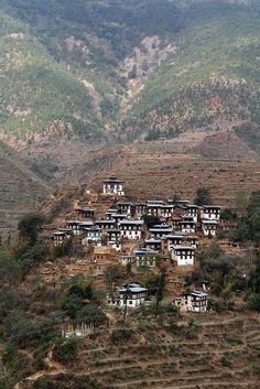 Beautiful village . Bhutan