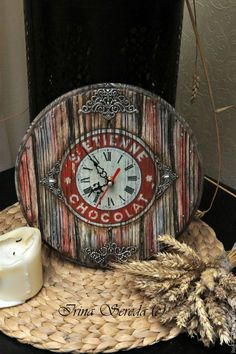 Новости Decoupage, Clock Craft, Iron Orchid Designs, Arts And Crafts, Diy Crafts, Altered Art, Diy Projects, Crafty, Artwork